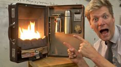 The Briefcase Fireplace by Colin Furze