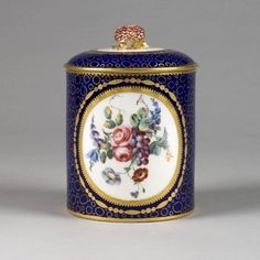 A Sèvres Tobacco Jar & Cover, 1763...Well, it looks like a tea caddy...