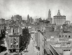 1930s nyc photos | New York - History - Geschichte: Manhattan Skyline 1915