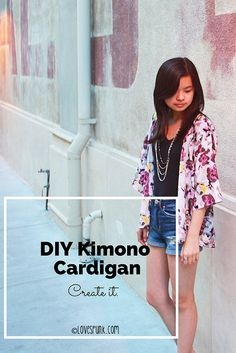 DIY Kimono Cardigan by Angela Lan, via Flickr. fave directions by far. but before I cut into the lovely fabric that I have, waiting for the perfect fabric...will this look good on me??