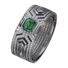 하이 주얼리 브레이슬릿 플래티늄, 사파이어, 에메랄드, 루비, 다이아몬드