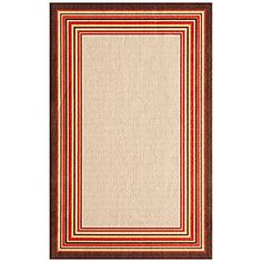 "20"" x 59"" Paprika & Beige Border Patio Accent Runner at Big Lots."
