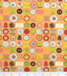 buttons, pincushions, needles #fabric
