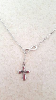 Hey, I found this really awesome Etsy listing at https://www.etsy.com/listing/248896507/infinity-lariat-cross-necklace-peace