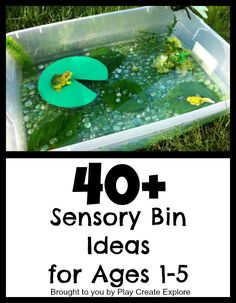 40+ Ideas for Sensory Bins..continuously updated!