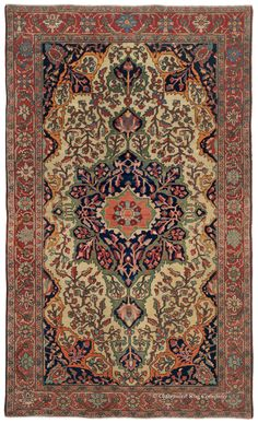 FERAHAN SAROUK, West Central Persian 4ft 2in x 6ft 8in Circa 1900 http://www.claremontrug.com/antique-oriental-rugs-carpets/