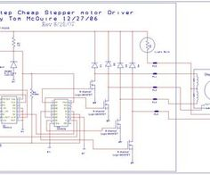Easy to build CNC Mill Stepper Motor and Driver circuits