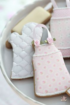 Kitchen or Baking Themed Decorated Cookies | Sweetopia - love the Aprons made with Edible Frosting Sheets!