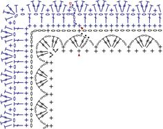 crochet quilt border - corner