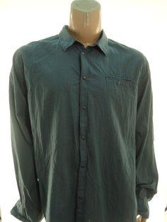CALVIN KLEIN NEW $69.50 BLUE BUTTON DOWN SHIRT sz XXL #CalvinKlein #ButtonFront