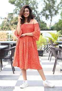 Dresses Women's Printed Red Rayon Dress Fabric: Rayon Sleeves: Sleeves Are Included Size: XS - 34 in S - 36 in M- 38 in L- 40 in XL- 42 in  XXL - 44 in Length: Up To 38 in Type: Stitched Description: It Has 1 Piece Of Women's Dress Work: Printed Country of Origin: India Sizes Available: XS, S, M, L, XL, XXL   Catalog Rating: ★4.2 (462)  Catalog Name: Trendy Designer Women's Dresses Vol 5 CatalogID_323597 C79-SC1025 Code: 415-2415913-