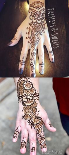 Mehndi designs, tattoos and patterns for party and brides. Bridal designs, arabic and modern that are easy yet stylish. Modern Henna Designs, Beautiful Henna Designs, Simple Mehndi Designs, Bridal Mehndi Designs, Bridal Henna, Beautiful Patterns, Non Permanent Tattoo, Eid Crafts, White Henna