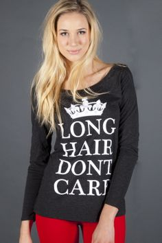 LONG HAIR she DONT CARE!!! #LHDCclothing #LHDC