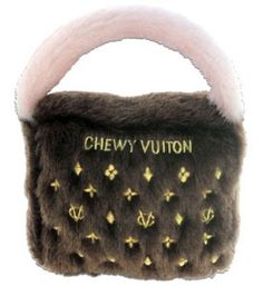 Dog Toy Classic Brown Chewy Vuitton