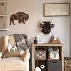 Fantastic baby nursery tips are offered on our site. Read more and you wont be sorry you did. Baby Boy Rooms, Baby Boy Nurseries, Baby Room, Neutral Nurseries, Chambre Nolan, Woodland Bedroom, Woodland Themed Nursery, Camping Nursery, Outdoor Nursery