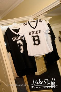 Do this with your favorite teams Jersey with the date of your wedding.
