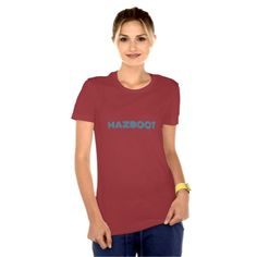 """Mazboot is a word shared in both the Arabic and Urdu languages. The Arab word means """"Correct"""" or """"Right,"""" and the Urdu word means """"Resolute"""" or """"Strong."""" This design represents the common thread shared by both languages. (Middle Eastern, Indian, Pakistani Designs - Women's Clothing - T-Shirt)"""