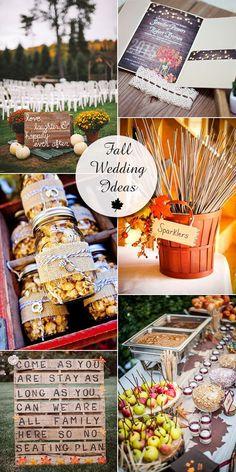 rustic fall wedding ideas and wedding invitations