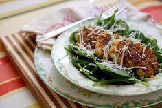 Lemon, Olive, and Parsley Quinoa Cakes  Salad Recipe