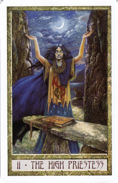 The High Priestess from the Druid Craft Tarot