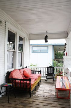 porch — Erin's Warm & Wood-Wrapped Austin Budget Bungalow | Apartment Therapy