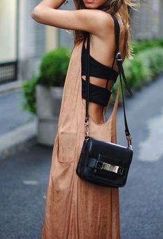 dress with a big open back to show off bralette design // zazumi.com