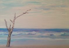 Ocean Beach Oil Painting Print by MaryJoLumsden on Etsy