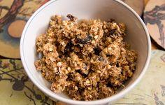 The Raw Food version of my recent granola recipe w/Sprouted Buckwheat & Raisins  (Vegan, Raw Food, Grain Free, Nut Free, Gluten Free, Allergy Friendly)