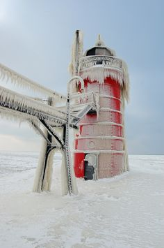 This amazing photo is by Tom Gill and pinned via Flickr -  Taken on January 27, 2008 South Haven, Michigan, US