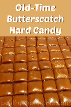 If you love crunchy-creamy hard butterscotch candy, this candy recipe is right u.If you love crunchy-creamy hard butterscotch candy, this candy recipe is right up your alley. Make this old-fashioned treat for yourself, or make it to share. What Is Butterscotch, Butterscotch Pudding, Hard Candy Recipes, Dessert Recipes, Dessert Ideas, Desserts, Sweet Recipes, Truffles, Kitchens