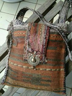 TERRA -- Earthy, Tribal, vintage, carpetbag -- RESERVED for TARA