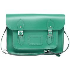 """Cambridge Satchel Company Exclusive To Asos 13"""" Leather Satchel ($193) ❤ liked on Polyvore"""