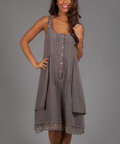 Look what I found on #zulily! Brown Lio Linen Sleeveless Dress by Anabelle #zulilyfinds