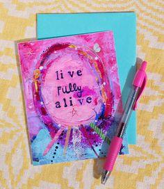 The Turquoise Paintbrush: mail something bright + happy