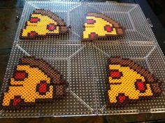 TMNT Pizza Stands perler beads by Khoriana on deviantART - Turtles: http://www.pinterest.com/pin/374291419004316581/ and http://www.pinterest.com/pin/374291419004335948/
