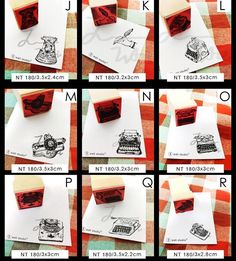 PRE-ORDER [END ON 03/06/2016 - 4PM] . Rubber Stamp by Wali  Design A - Design F : RM28.00 each Design G : RM37.00 each Design H - Design R : RM28.00 each . ETA: July 2016 . Kindly PM us to place order or email to happieplanner@gmail.com by happie_planner