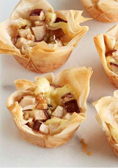 ... pears and ground ginger in phyllo dough, is a new dessert favorite