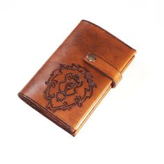 Alliance Hand Tooled Leather Refillable by LudoModernLeather, $59.00