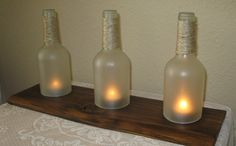 Hey, I found this really awesome Etsy listing at https://www.etsy.com/listing/292182889/wine-bottle-hurricane-tealight-candles