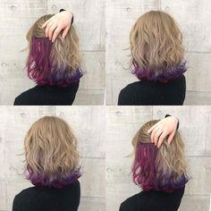 Hair Color Streaks, Hair Highlights, Underlights Hair, Dye My Hair, Aesthetic Hair, Cool Hair Color, Love Hair, Purple Hair, Balayage Hair