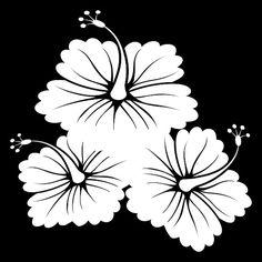 3 Flowers Vinyl Decal for Car Window Locker by LazyDogConcepts, $6.00