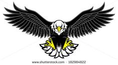 eagle mascot spread the wings - stock vector