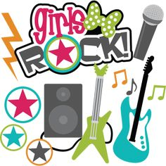 Girls Rock! SVG Scrapbook collection teen svg files for scrapbooking teen svg cut files