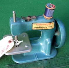 Gateway Stitch Mistress TSM / Toy Sewing Machine  After the WWII ended materials became available and a lot of former war related small businesses were looking for something new to do.  These are an example.  They disappeared with the beginning of a new war.