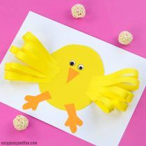 Easter Chick Paper Craft - Easy Peasy and Fun easy paper crafts for kids - Paper Crafts Easter Arts And Crafts, Easter Egg Crafts, Easter Projects, Bunny Crafts, Paper Crafts For Kids, Easy Crafts, Easter Eggs, Easter Ideas, Paper Bunny