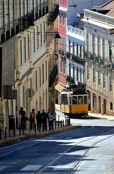 I love every soft curve of you. caressing your ancient streets. kissing your vibrant colors. devouring all the life you give, my beautiful Lisboa. Visit Portugal, Spain And Portugal, Wonderful Places, Beautiful Places, Amazing Places, The Places Youll Go, Places To See, Lisbon City, Lisbon Tram