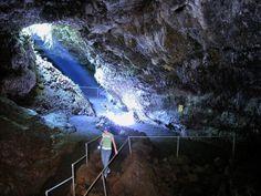 Lava Tube on the Hawaiian Island of Maui.