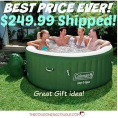 HOT BUY! Best Price EVER! Get a Coleman Lay Z Spa Hot Tub for only $249.99 shipped! What a great gift idea!  Click the link below to get all of the details ► http://www.thecouponingcouple.com/lay-z-spa-hot-tub-only-249-99-shipped-best-price-ever/ #Coupons #Couponing #CouponCommunity  Visit us at http://www.thecouponingcouple.com for more great posts!