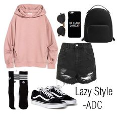 """""""Lazy Style"""" by anatiller ❤ liked on Polyvore featuring Topshop, adidas, MANGO and Christian Dior"""