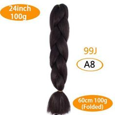 FALEMEI kanekalon braiding hair ombre two tone colored jumbo braids hair synthetic hair for dolls crochet hair Items per Package: 1 strands/pac Kanekalon Braiding Hair, Kanekalon Jumbo Braid, Jumbo Braiding Hair, Jumbo Braids, Twist Braids, Braid Hair, Crotchet Braids, Crochet Braids Hairstyles, Braided Hairstyles